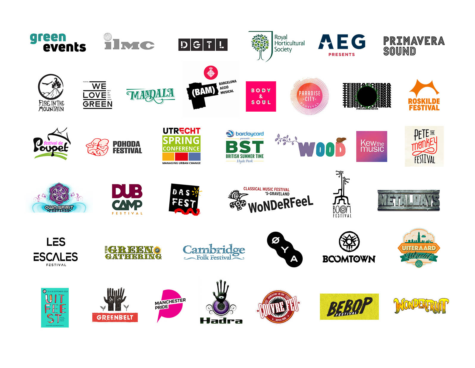 Festivals we have worked with