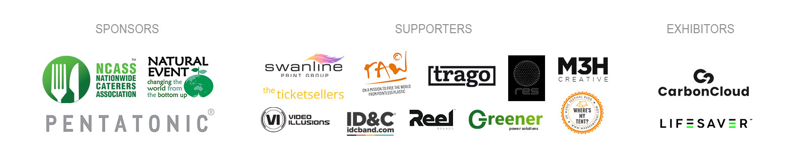 GEI11 Sponsors and Supporters Logos