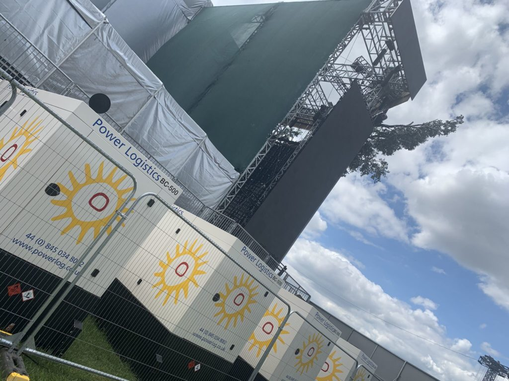 Power Logistics' Power installation for BTS main stage