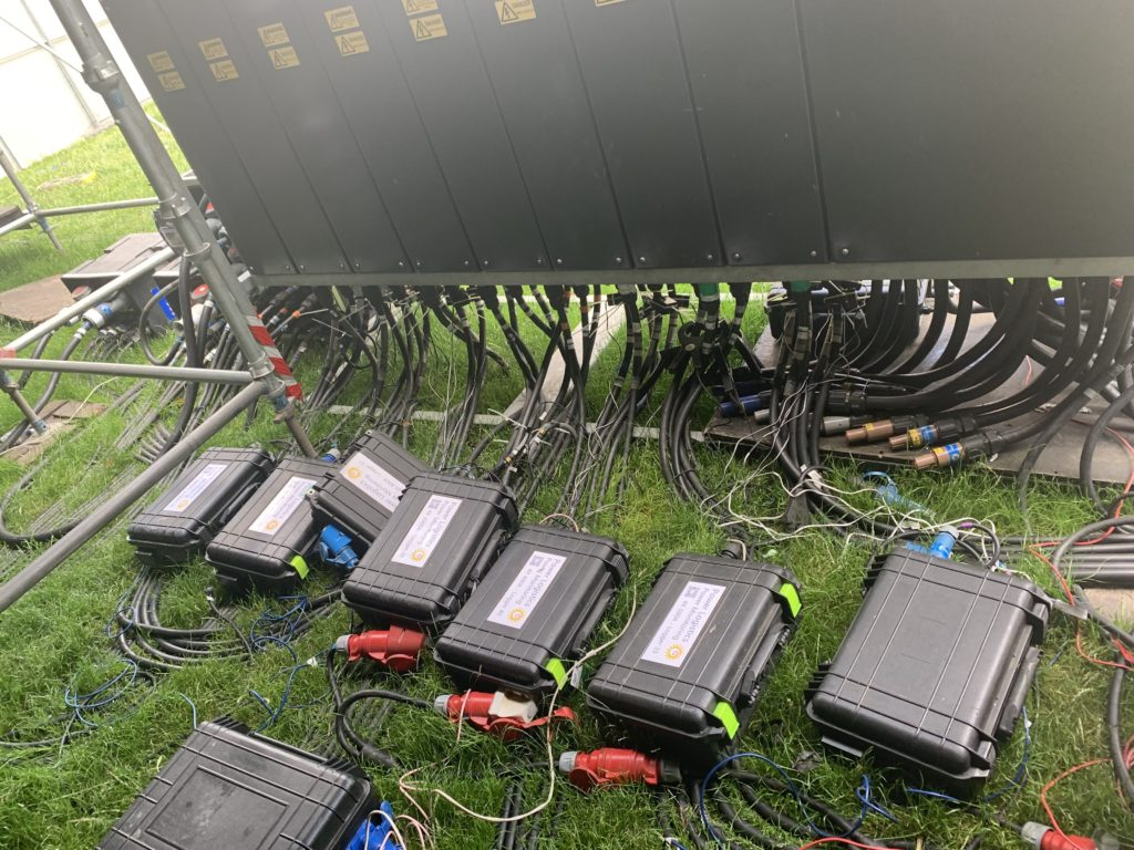 Power Logistics' power monitoring equipment deployed on the main stage at BST