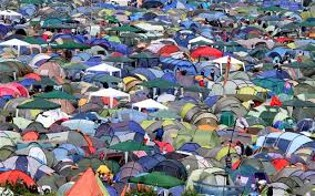 Photo of lots of tents at a festival